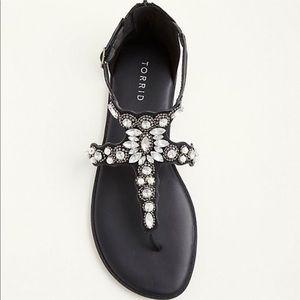 Nwt wide width jeweled sandals
